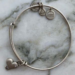 ALEX AND ANI silver bracelet with heart charm